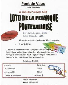 Grand loto samedi soir de la Pétanque pontévalloise.