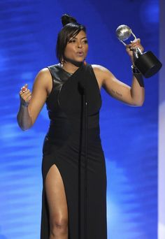"""LOS ANGELES (AP) — """"Hidden Figures"""" and Taraji P. Henson had a big night at the NAACP Image Awards, where Hollywood glamour shared the stage with somber remarks from the director of Washington's new African-American museum."""