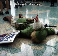 This is awesome! And unfortunate! But awesome! Link should know better than to tease the cuccos at this point in his life!