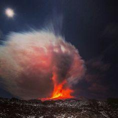 Etna: eruzione nella notte del 28-12-2014
