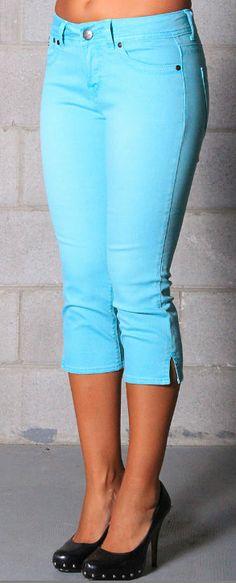 Sea Blue Nicki Capri Jeans