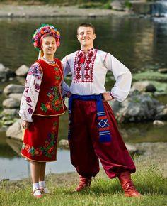 Central Ukraine , from Iryna Ukrainian Dress, Ukrainian Art, Ukraine, Ethno Style, Folk Clothing, Asian History, Folk Costume, Dance Costumes, Traditional Dresses