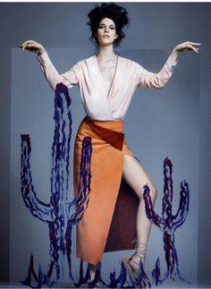 TRUSSARDI Spring Summer 2016 look featured on Glamour Italia @glamouritalia #Trussardi #TrussardiEditorials