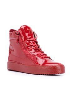 bd77fc1a35d46 Best Sales Giuseppe Zanotti Nolan Hi-Top Sneakers Red - Giuseppe Zanotti  Design Men Hi