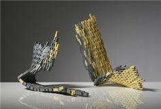 Mella Shaw, Bridges (Grey and Yellow), 2013 Royal College Of Art, Fun At Work, 3d Projects, Ceramics, Sculpture, Bridges, Artwork, Inspiration, Yellow