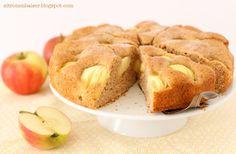 Versunkener Apfelkuchen, vegan