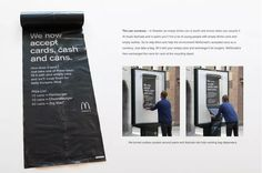 McDonald's in Sweden now accepts Cards, Cash and Cans as payment.