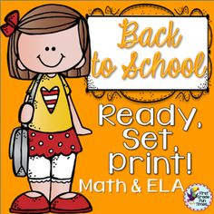 First Grade Fun Times  from  Back to School Ready, Set, Print! on TeachersNotebook.com -  (52 pages) - Perfect for the start of first grade - more than 50 pages of ELA and Math skills - some cut & paste, some writing.  Answer keys included for picture sorts.