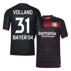 Bayer Leverkusen 16-17 Season Home Black #31 VOLLAND Soccer Jersey [H246]