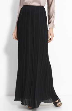 High drama with this pleated chiffon.....