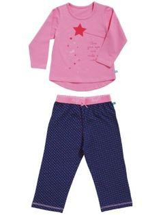 Lief! meisjes pyjama met een roze shirt met lange mouwen en op de voorkant een print van een toverstafje met de tekst 'close your eyes and make a wish'. De donkerblauwe broek heeft een superleuke print van roze, lila en oranje stipjes en een roze elastiek band met de tekst 'lief'.