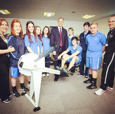 This week's #TBT takes us back to 2012 when Olympic rower Steven Redgrave opened the new College gym. #Throwbackthursday #Gym #Fitness #College #Rowing #Student
