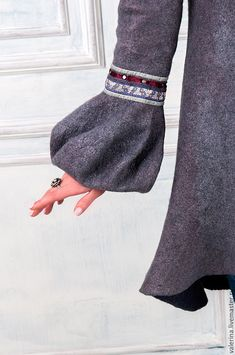 """Купить Жакет-сюртук валяный """"THE FOG"""" - сиреневый, авторская ручная работа, одежда для женщин"""