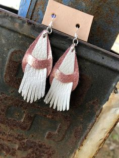 FRINGE Authentic Leather Earrings