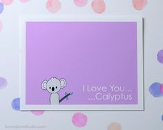 Koala I Love You Card Cute Pun Girlfriend Boyfriend Wife Husband Anniversary Romantic Fun Funny Birthday For Her Him Handmade Greeting Cards