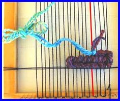 Soumak Weaving for the Beginner -(also) try weaving with multicolored braided string!!