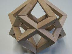 Wooden Polyhedron: Escher's Star: Two Cubes   vismath