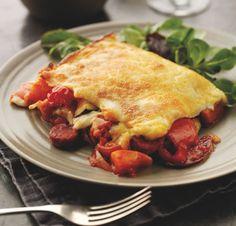 Chorizo, Roasted Vegetable  Cherry Tomato Lasagne
