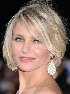 The Best Celeb Hairstyles For Every Length: Chin-length: Cameron Diaz