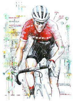 A tribute to Alberto Contador's final race Vuelta a Espana by Horst Brozy Trek Road Bikes, Bicycle Art, Cycling Art, Sports Art, Road Racing, Typography Prints, Spiderman, History, Bike Stuff