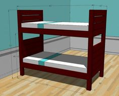 Ana White | Build a Side Street Bunk Beds | Free and Easy DIY Project and Furniture Plans