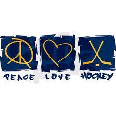 "Peace.Love.Hockey 3.5"" Button on CafePress.com"