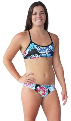 2059476657 Home - Catfish Designs. Black Waratah Scoop Bikini