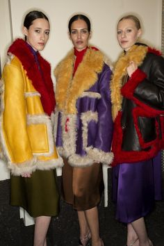 LADIES. The 70's are Back!       Backstage at Prada F/W 14