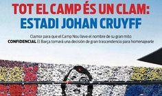 Johan Cruyff Stadium? Barcelona's Nou Camp could be renamed