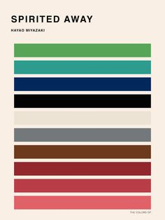Color Palettes of Hayao Miyazaki Movies