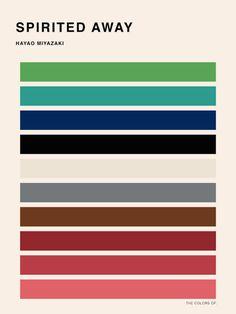 http://www.fubiz.net/2015/03/13/color-palettes-of-hayao-miyazaki-movies/