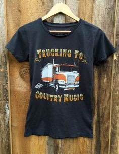 Trucking To Country Music Womens Tee Blk/Color