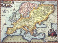 Antique Reproduction of Europe in 1670  This map is actually a depiction of what Europe looked like in ancient times rather than in 1670.