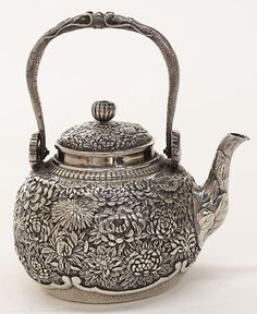 Japanese sterling silver teapot.