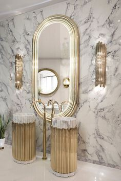 Click for more ideas: #bathroomdesign #luxurybathroom #bathroomideas #contemporarydesign #moderndesign #designideas #interiordesign