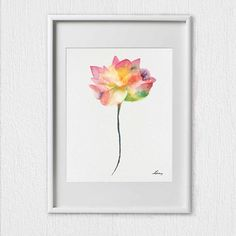 Lotus Wall Decor Painting Lotus Flower Art Print Lotus, Set 2 Flower Lotus Art Print Flower Decor Wall Art Lotus Original Gift Idea. PLEASENOTE !! All my drawings are made on watercolor paper of museum quality. I guarantee that I paint all the paintings myself. You buy copies of