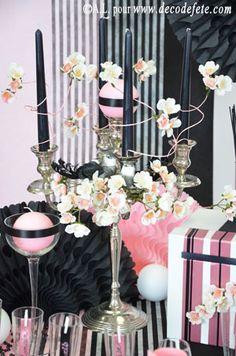 Customisez votre déco à l'aide de fil tourbillon, à la fois solide et malléable, pour une décoration de table pleine d'originalité ! #deco #table http://www.decodefete.com/50m-tourbillon-rose-p-2627.html