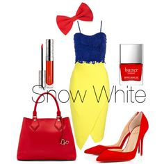Snow White by gemmau on Polyvore featuring polyvore fashion style Jane Norman Diane Von Furstenberg Forever 21 By Terry Butter London