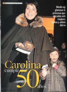 Caroline at 50, with daughter Alexandra