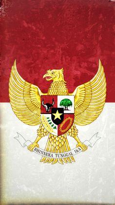 Iphone wallpaper hd Garuda Indonesia Merah putih