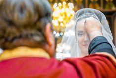 Beautiful bride attending the wedding ceremony