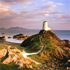 Llanddwyn Lighthouse, Anglesey, North Wales, UK