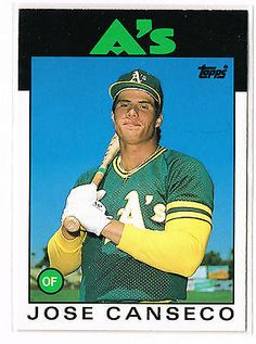 1986 TOPPS TRADED JOSE CANSECO #20T XRC major league debut September 86