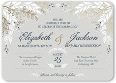 Affectionate Floral 5x7 Wedding Invitations by Clover