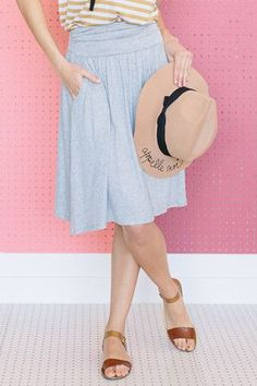 Go To Skirt - Grey