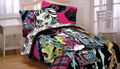 Mattel 72 by 86-Inch Monster High Right to Fright Microfiber Comforter, | eBay