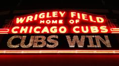 Wrigley Field. It doesn't happen that often but when it does it's magical! Now available as an art print! (Click the pin to see available sizes and to buy) #chicago #baseball #cubs #wrigleyfield #chicagocubs #letsdothismoreoften