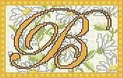 Marguerite monogrammen - gratis kruissteek patronen en grafieken - www.free-cross-stitch.rucniprace.cz