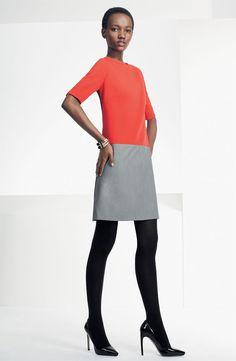 Eliza J Zip Detail Colorblock Shift Dress #Nordstrom #AugustCatalog