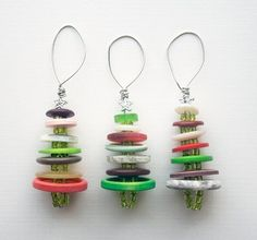 button and bead tree ornaments